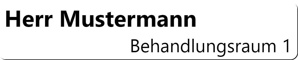 HC-PatientQueue Mustermann Anzeige